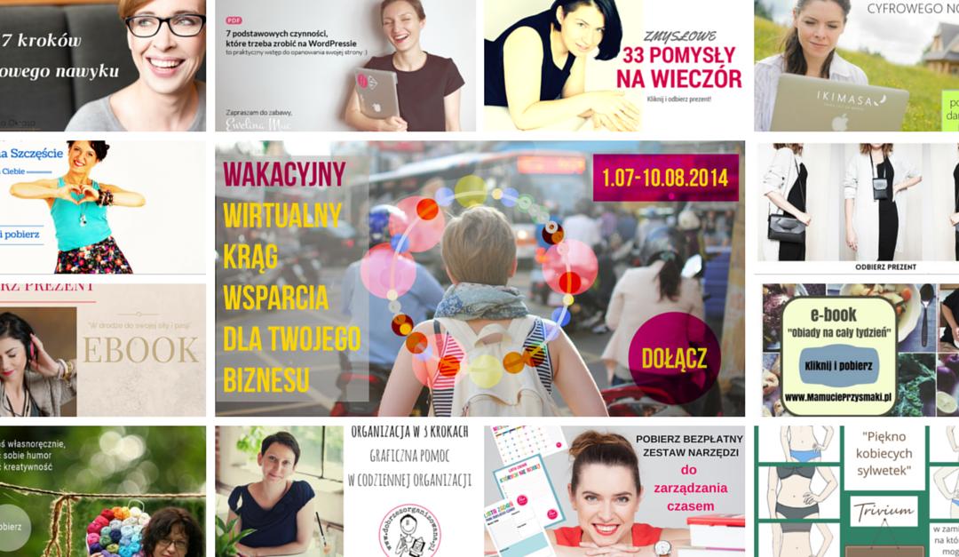 12 prezentów z okazji rocznicy Wakacyjnego Wirtualnego Kręgu Wsparcia