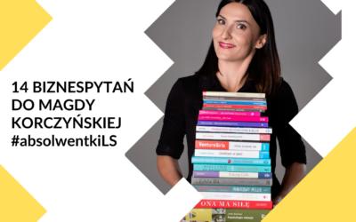 14 biznespytań do Magdy Korczyńskiej – #poznajabsolwentki2020