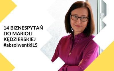 14 biznespytań do Marioli Kędzierskiej – #poznajabsolwentki2020